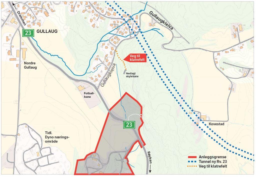 Viktig informasjon om klatrefeltet på Gullaug