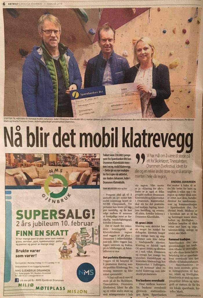 DKK får støtte til å kjøpe en mobil klatrevegg